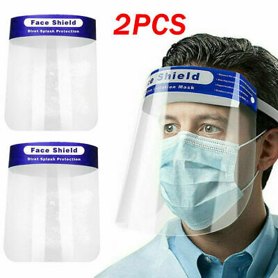 Safety Face Shield Reusable Clear Washable Face Mask Anti-Splash