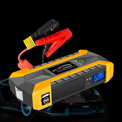 6 In 1 Emergency Charger Car Jump Starter Charger Power Bank with Adapter &