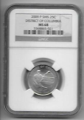 2009-P District Of Columbia Quarter Ms 68 Sms Ngc