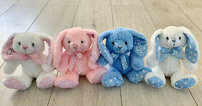 Personalised Baby Bunny Teddy Bear Soft Toy Rabbit Gift New Baby Shower