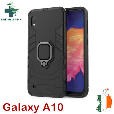 Samsung Galaxy A10 Case Hybrid Cover Rugged Armor Shockproof Magnet Ring Holder