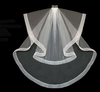 "Bridal Veil 2 Tier Horsehair 2"" Edge With Comb 2-3198FB"