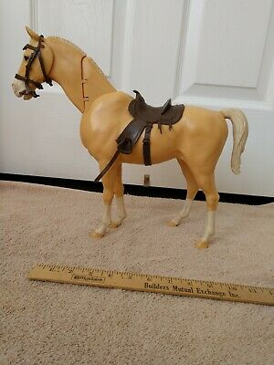 Vintage Marx Toy Horse With Jointed Neck And With A Saddle