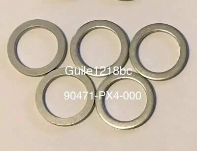 5pc HONDA/ACURA 90471-PX4-000 Aluminum Transmission Drain Plug Washer 18mm