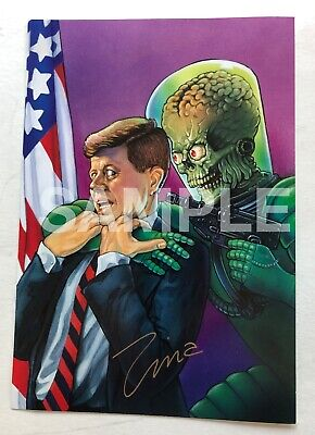 MARS ATTACKS Zina Saunders signed print