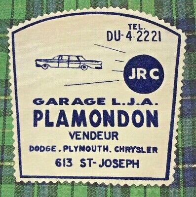 Vintage St. Raymond QUEBEC Patch Garage LJA Plamondon 613 St. Joseph Garage Gas