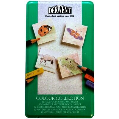 Derwent 12 pencils pastels Mixed Colour Collection Drawing Art Colour red orange