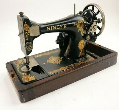 Antique Vintage 1919 Singer Sewing Machine Model 128 For Parts