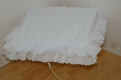 Baby White Pram Sun Canopy To Fit Silver Cross And Coach Built  Prams