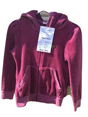 Juicy Couture Age 5 Years Violet Frill Back Zip Front Hoody*