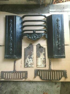 Antique Cast iron fireplace bedroom size fire front 46mm height by 61cm wide