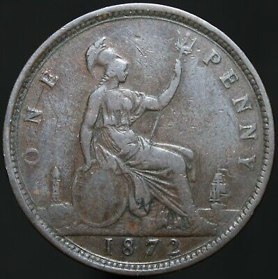 1872 | Victoria One Penny | Bronze | Coins | KM Coins