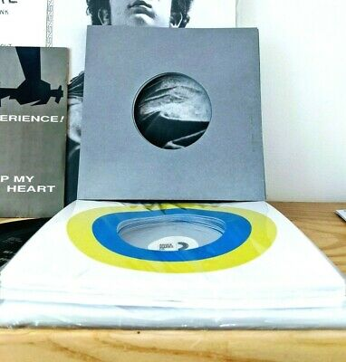 100 RECORD SLEEVES FOR 7″ VINYL - BMC LIME/BLUE TGT & GRAY + CLEAR FOR 45RPM EPs