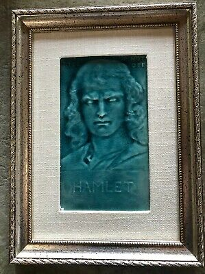 Antique JG& JF Low Majolica American Art Tile Hamlet. Framed.