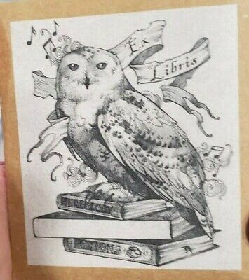 Harry Potter inspired Ex Libras Bookplates. Came in Owlcrate.