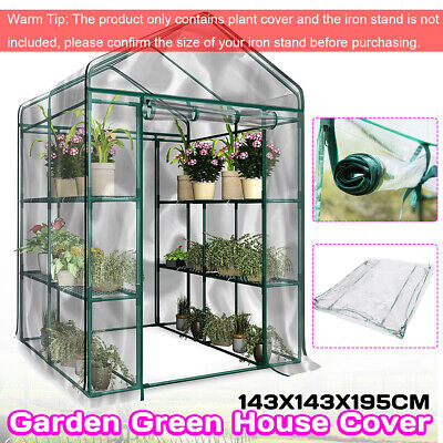 Walk In Greenhouse PVC Plastic Cover  Grow Green House Without 6 or 8 Shelves