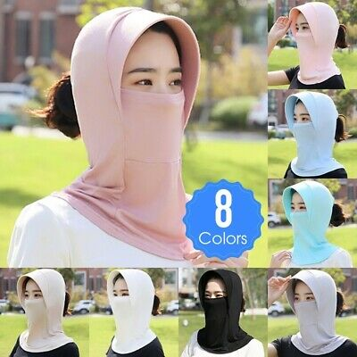 Women Outdoor Riding Hat Full Head Face Cover Neck Flap Sun Protection Dustproof