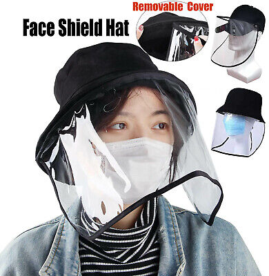 Safety Full Face Shield Protection Cover Dust Wind Proof Bucket Hat Baseball Cap