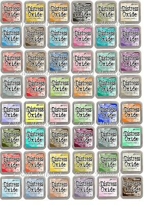 "Ranger Distress Oxide Ink Pads by Tim Holtz 3""x 3"" - CHOICE of Colours FREE P&P"