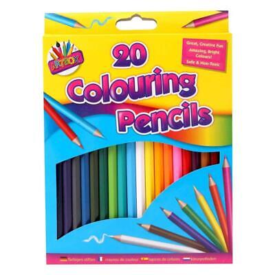 Artbox Pack Of 20 Colouring Pencils Assorted Colours Arts & Craft Drawing Colour