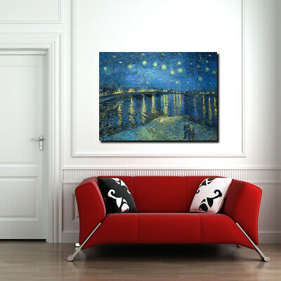 Starry Night Over The Rhone by Vincent Van Gogh, Canvas Wall Art, Wall Print