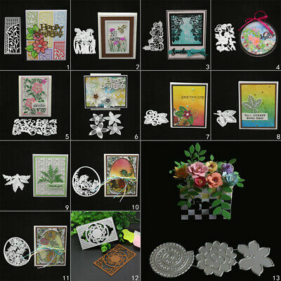 Flower Leaf Cutting Dies Metal Stencil DIY Scrapbook Album Paper Card Vine Art