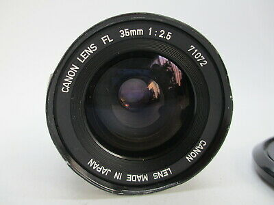 CANON FL 35MM 2.5 F2.5 Lens for Canon FL FD mount Camera Tested Good