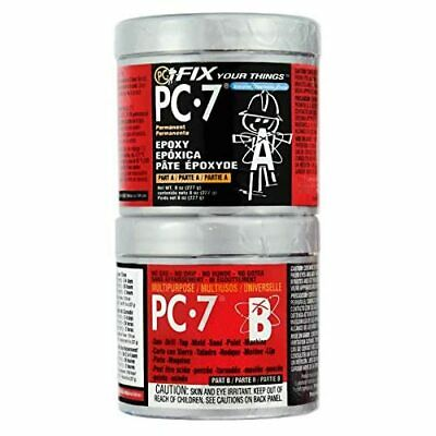 PC Products PC-7 Epoxy Adhesive Paste, Two-Part Heavy Duty, 1/2lb in Two Cans,