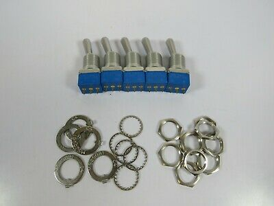 (5 NEW NOS) OTTO 21649 T3-14141 ON-ON Toggle Switches