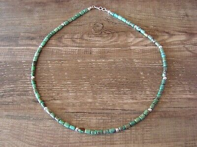 Navajo Indian Hand Beaded Turquoise Necklace by D. Jake