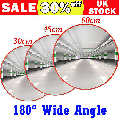 Wide Angle Security Curved Convex Road Mirror Traffic Driveway Safety 30/45/60cm