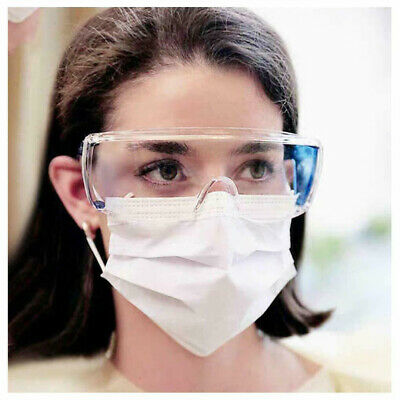 Clear Safety Goggles Eye Protection Anti Fog Clear Vent Protective Glasses Lab