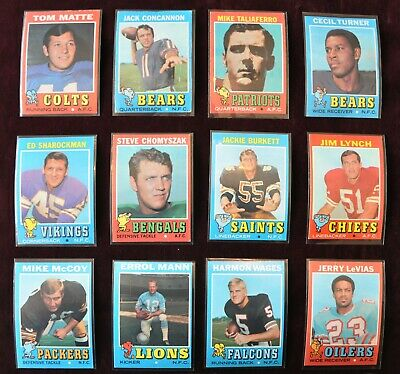 "1971 Topps Football Sports Cards ""You Pick Them"" COMPLETE YOUR SET! $1.50 Each"