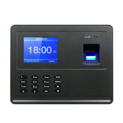 "Biometric Fingerprint Attendance Machine 2.8"" TFT LCD Display USB K2N2"