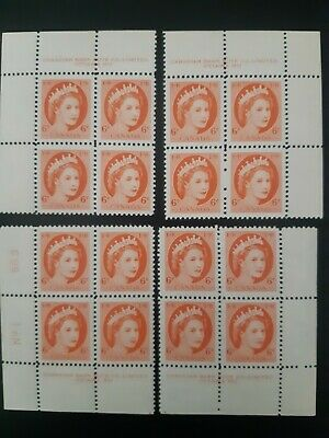 Canada stamps 342 matched set, plate 1, MNH, Queen Elizabeth II, Wilding