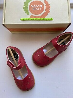 Livie and Luca girls poppy red Frida shoes size 10 new