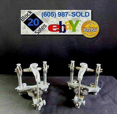 Lot of 2 Vintage Dental Articulators Hanau Model H