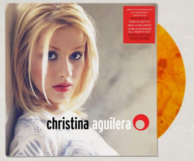 Christina Aguilera SELF TITLED Debut ORANGE + RED Colored Vinyl LP NEW SEALED