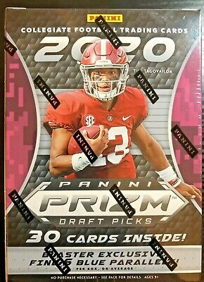 2020 Panini Prizm Draft Picks Football Blaster Box SEALED: JOE BURROW 30+ Qty