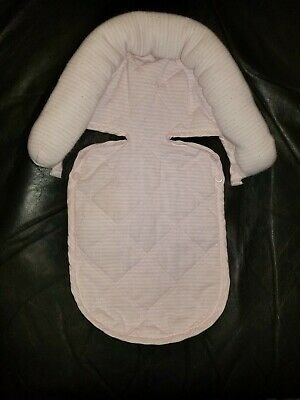 Infant Car Seat Head Support Pink Stripes