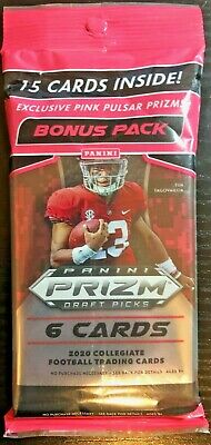 2020 Panini Prizm Draft Picks Football Hanger Pack JOE BURROW ROOKIE 85+ Qty
