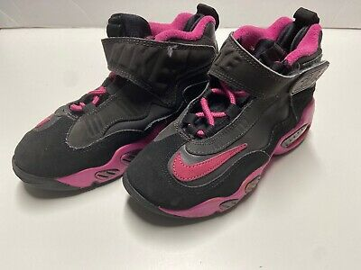 Nike AIR GRIFFEY 24 MAX 1 (PS) # 552984-006 Size 13C Girls Sneakers Black Pink