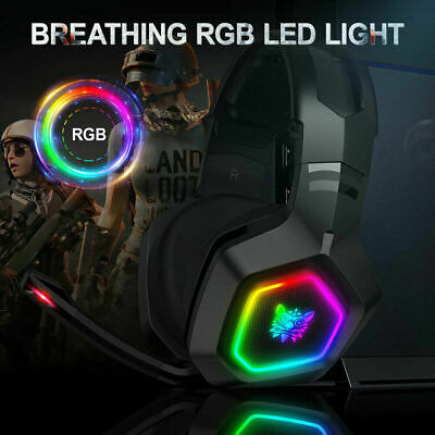 K10 Stereo Bass Surround RGB Gaming Headset with Mic for PS4 Xbox One PC AA+