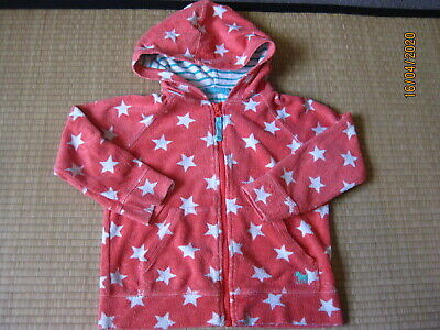 mini Boden towelling hoodie zip coral age 4-5 VGC