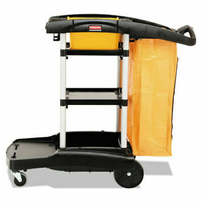 Rubbermaid Commercial Black High Capacity Cleaning Cart - Black (RCP 9T7200BK)