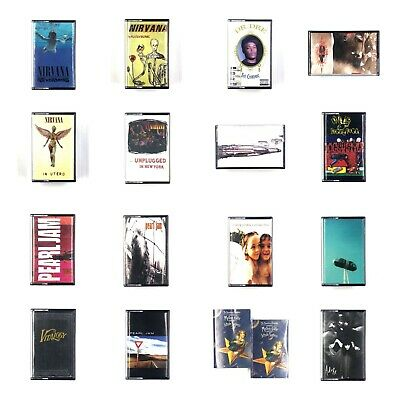 BUILD UR OWN Cassette Lot - 90's - Nirvana, Pearl Jam, Soundgarden, NIN + More!