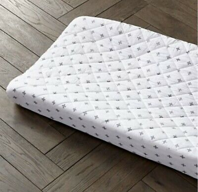 Crate And Kids Organic Cotton Grey Plus crib sheet AND changing pad cover SET!