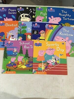 Lot Of 10 UK Kids Peppa Pig New Books With CD