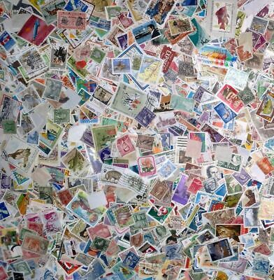 1000 Mixed World Stamps - Used - Off Paper - Kiloware - Many Countries