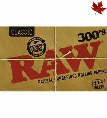 RAW BRAND Cigarette Rolling Papers - Raw 300's - FIVE PACKS - 1500 Sheets 1.2...